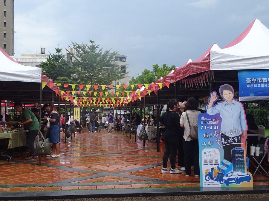 勞工局22日在民俗文物館舉辦好樣市集活動冷冷清清