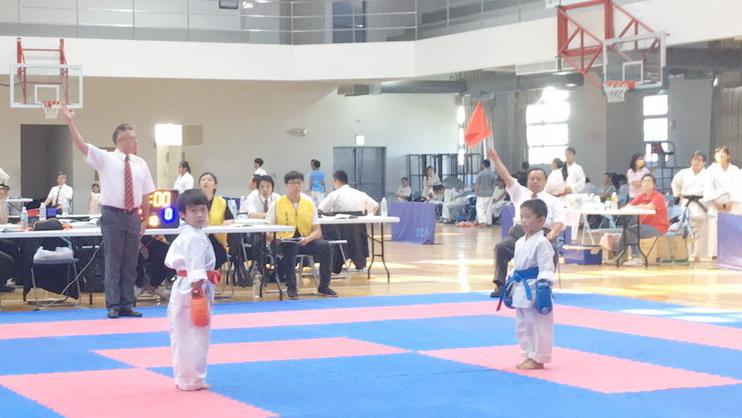 市市長盃空手道錦標賽 台中二中體育館熱鬧展開
