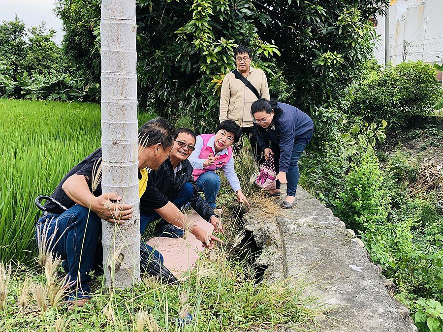 排水卵石護岸損壞危及農田 楊瓊瓔爭取1400萬元經費改善