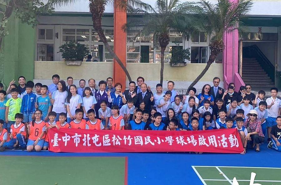 沈佑蓮議員與前立委沈智慧成功爭取松竹國小球場翻新