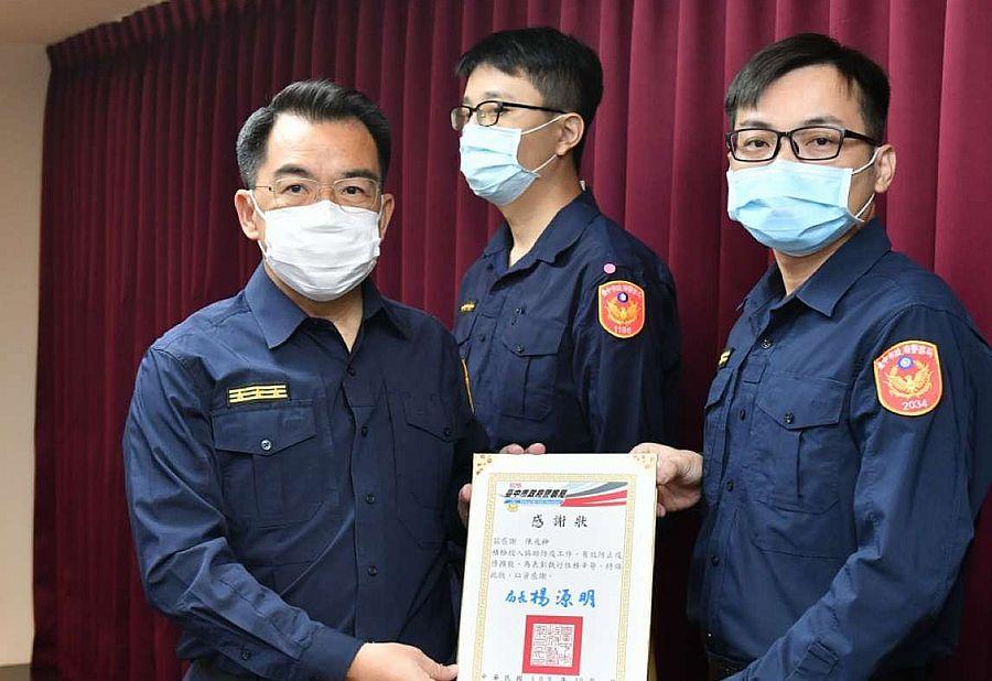 中市警局長表揚防疫有功的員警