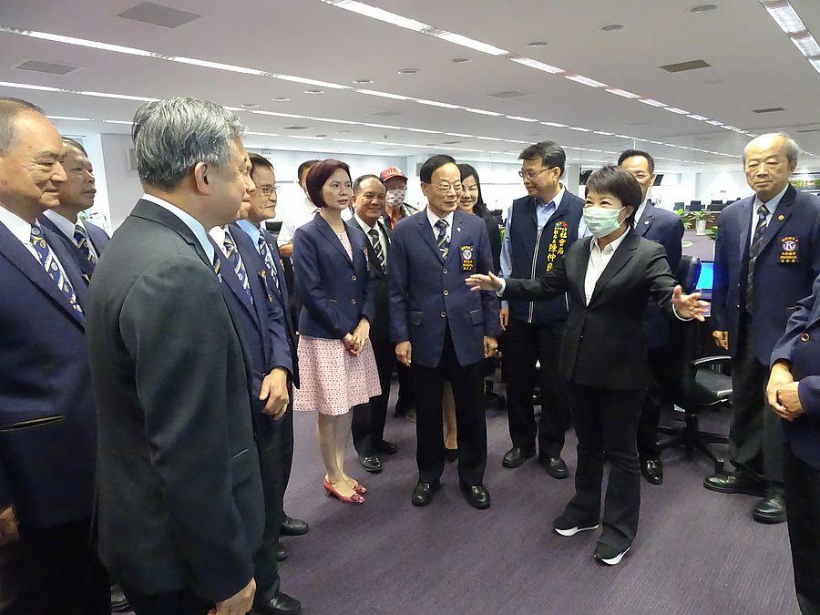 國際同濟會台灣總會長廖敏榮率幹部拜會市長盧秀燕
