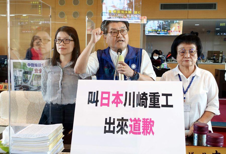 中捷日本原裝進口列車故障 議員要求川崎重工董事長向中市民道歉