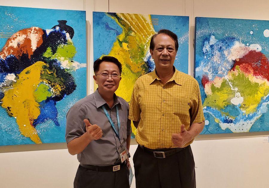 林輝堂「曜變‧躍變」西畫展 21日起在大墩文化中心展出