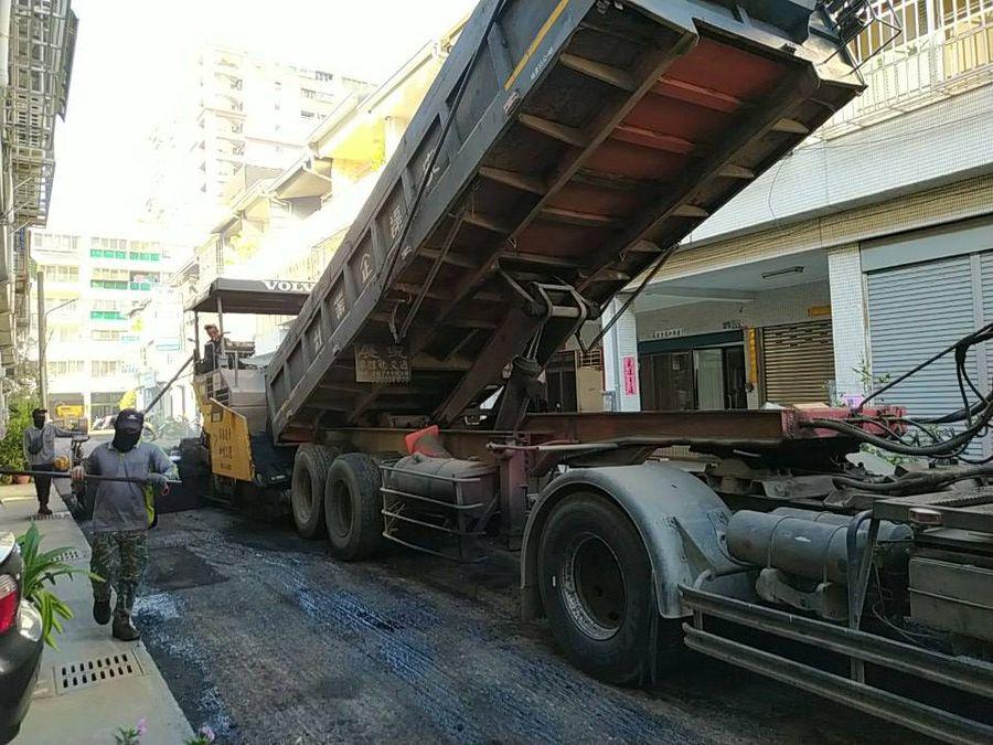 北屯區陳平路段瀝青鋪設工程  工程期間該路段暫緩停車