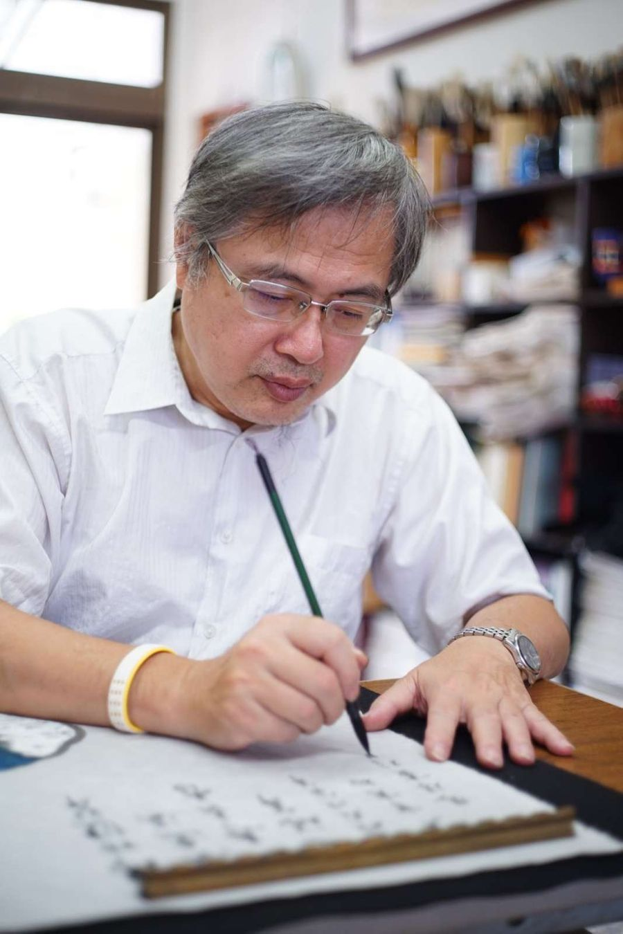 把中醫奧秘以書法呈現  創意作品賞析在中國醫大