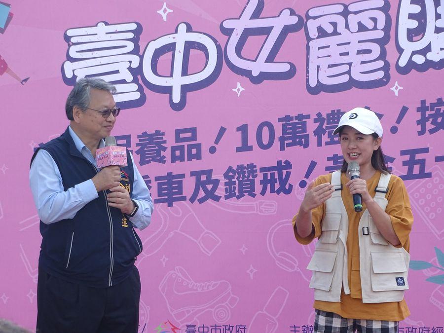 藝人林彥君為「2020台中女麗購」活動做宣傳