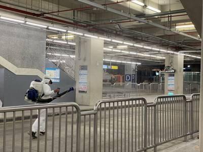 春節連假交通防疫 中市加強大眾運輸場站環境消毒