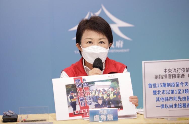 台中今增10確診 盧市長為警消請命優先施打疫苗