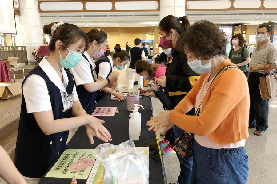 世界手部衛生日 台中慈濟洗手闖關宣導防疫