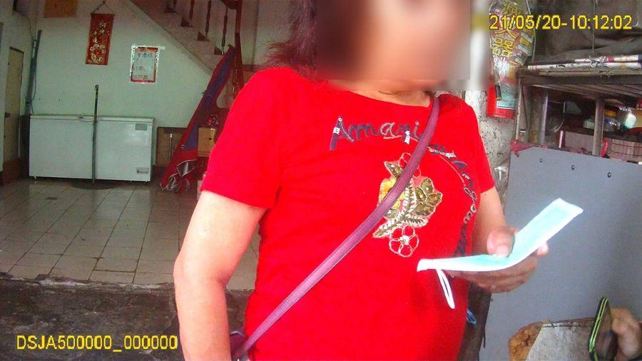 臺中第一例婦人未戴口罩  警搜證告發