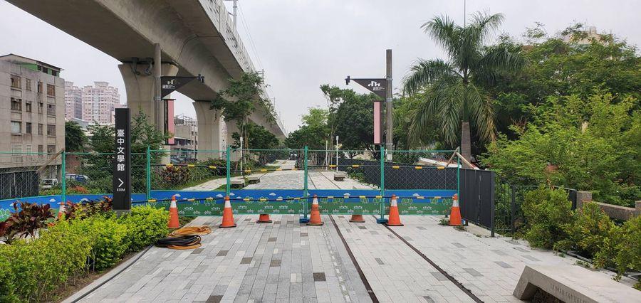 綠空鐵道啟用不到半年  封條、圍籬充斥挨批