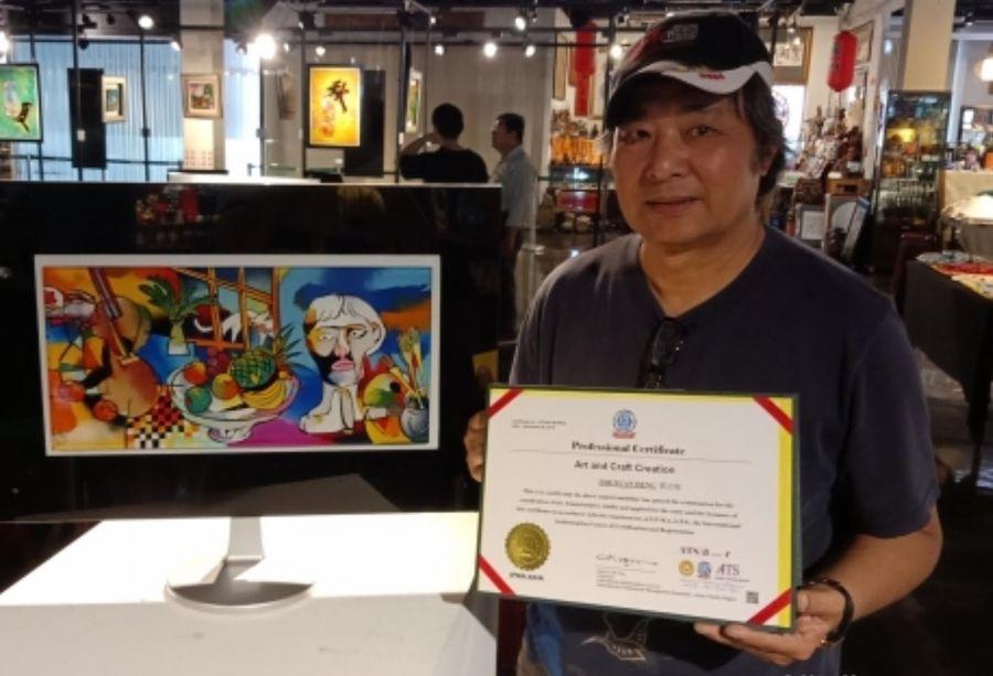 藝術家鄧志炫 繽紛作品展現生命與藝術的精采