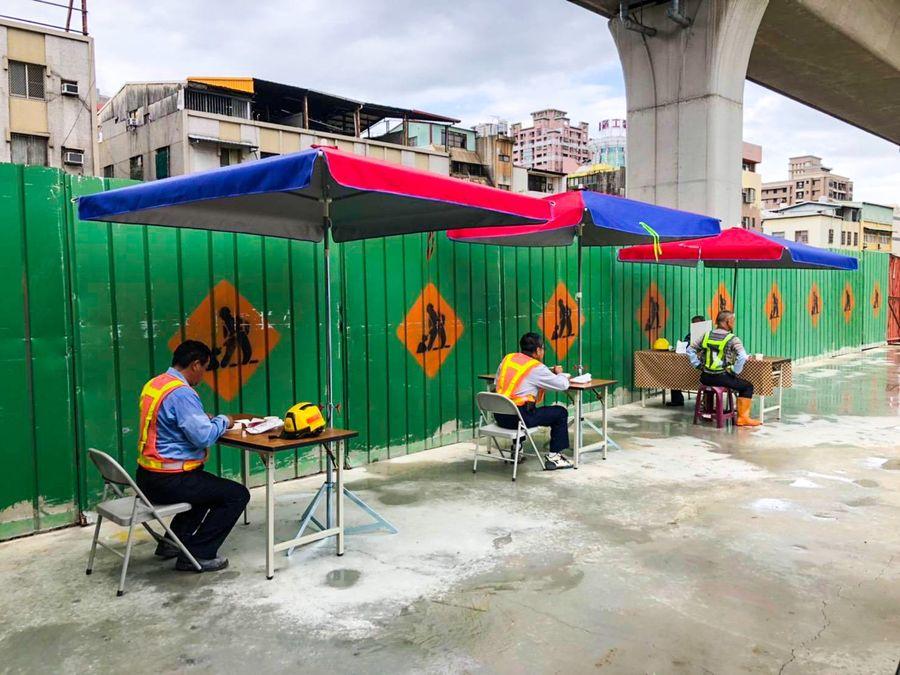 市府各營造工程以身作則  須設置勞工用餐休息區