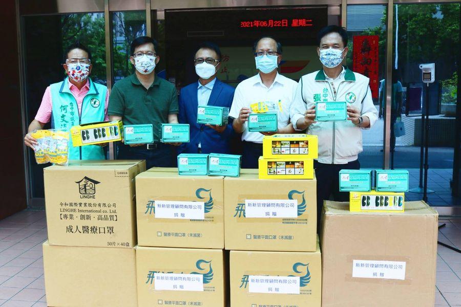 中市第四分局獲贈大批防疫物資  感謝民代及企業相挺