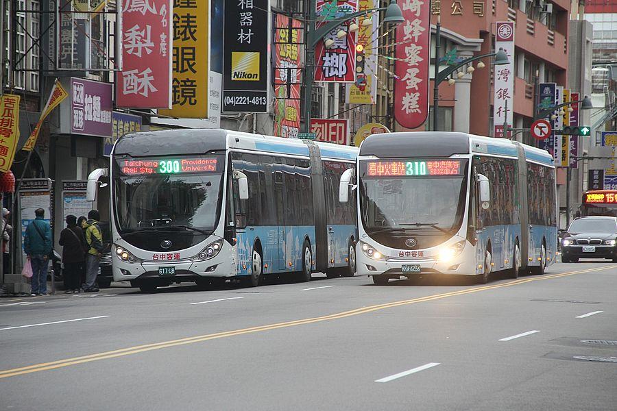 台中市300路公車 即日起增四成行駛班次